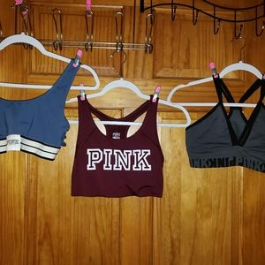 3 Victoria secrets pink bras